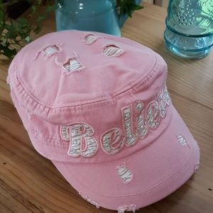 Pink Distressed Cap